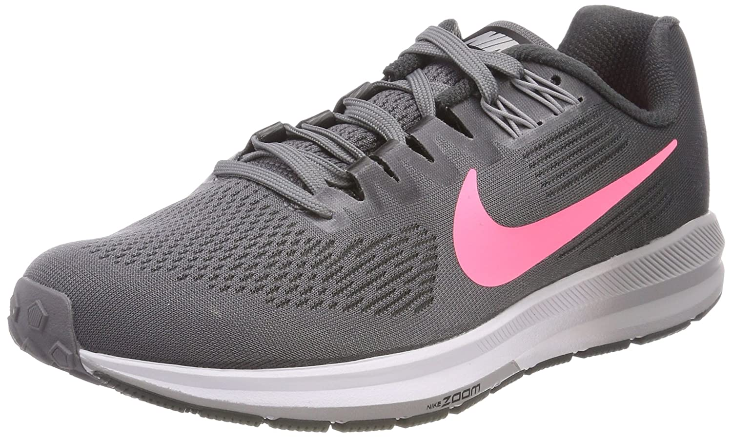 NIKE Women's Air Zoom Structure 21 Running Shoe B078HV83TK 8.5 B(M) US|Gunsmoke/Sunset Pulse