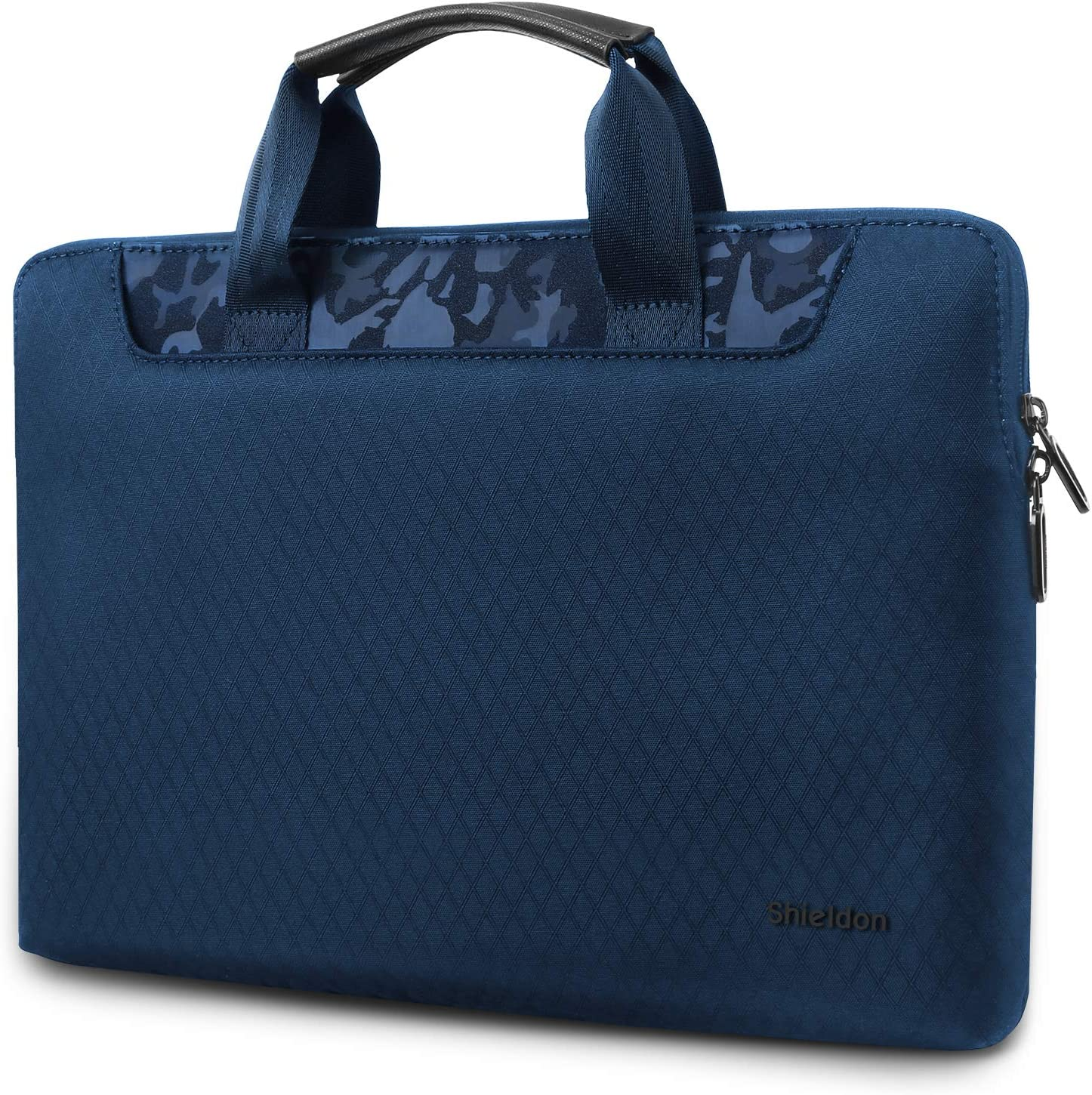 """SHIELDON 13-13.3 Inch Laptop Sleeve Case Carry-on Water Resistant Notebook Protective Bag Briefcase Compatible with 13"""" Macbook Air/Pro, iPad Pro, 13.5"""" Surface Book 2, 12.2"""" Acer Switch 3 - Blue"""