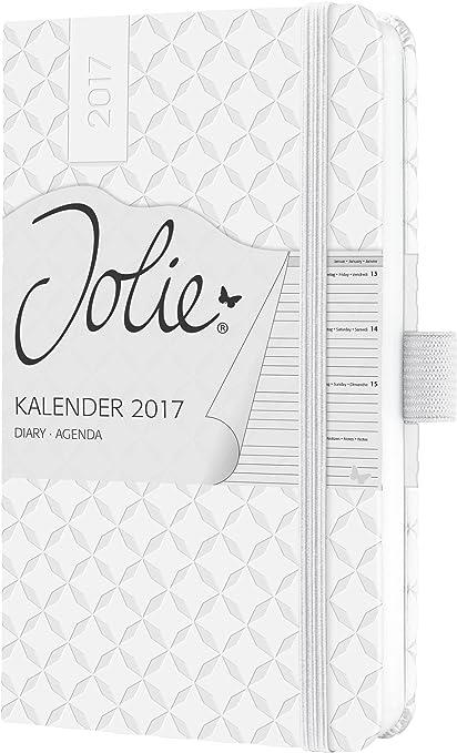 Sigel J7108 - Agenda semanal Jolie 2017 de A6 con tapa dura con diseño snow white