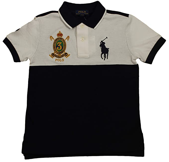 6cee2e31 Polo Ralph Lauren Boys Youth Big Pony Crest Polo Shirt (3/3T, White/Navy):  Amazon.ca: Clothing & Accessories