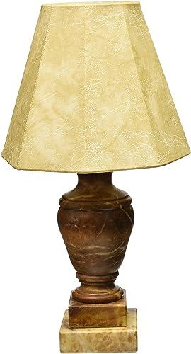 Royal Designs Caramel Alabaster Mini Lamp Hexagon Lampshade