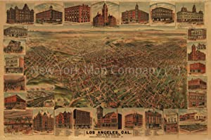 1891 Map|Title: Los Angeles, Cal, Population of City and Environs 65,000|Subject: California|Los an