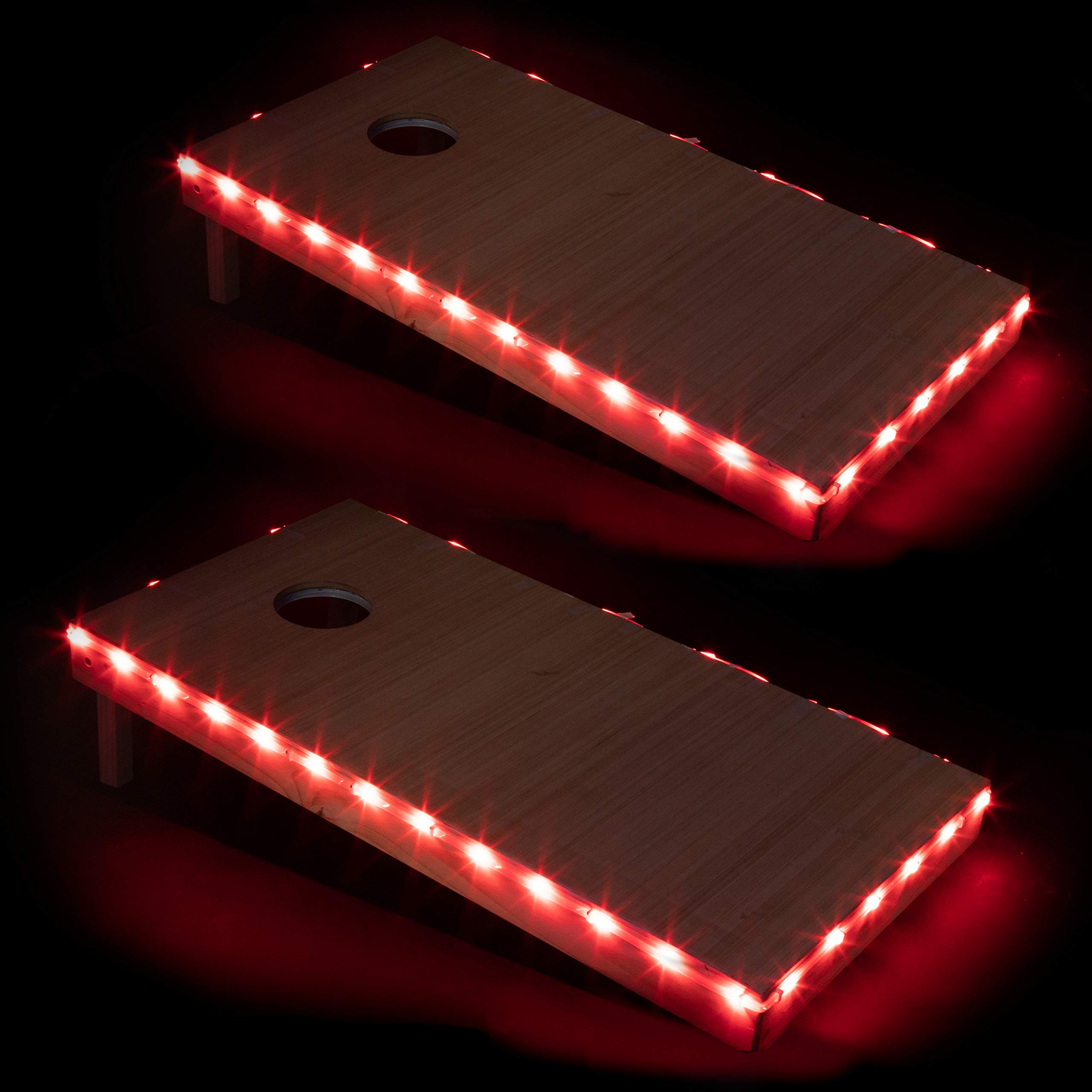 Play Platoon LED Cornhole Board Lights Set of 2, Red - Corn Hole Edge Lighting Kit for Lighted Outdoor Night Games - Bright, Long Lasting, Easy to Install by Play Platoon