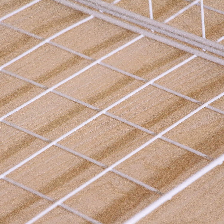 Xinfull 10 Pcs Closet Shelf Divider Metal Wire/Stackable/Storage Organizer/Separator DIY Storage Grids Modular/Cube/Bins/for Bedroom Bathroom Home Office Shelves/Bookshelf Bookcase/Cabinet