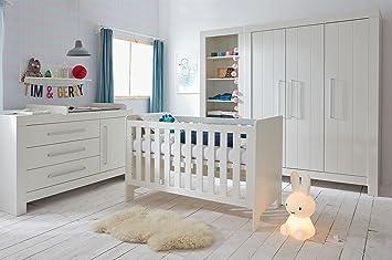 Babyzimmer Kinderzimmer komplett Cannes weiß MDF Set C Bett 140x70 ...