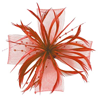 Molly and Rose Biots and Beads Aliceband Fascinator In Coral 4e52cb6a271