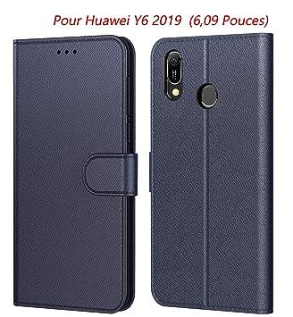 huawei y6 2019 coque portefeuille