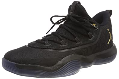 promo code d3e60 a5617 Nike Jordan Super.Fly 2017 Low, Chaussures de Basketball Homme, Noir  (Blackmetallic