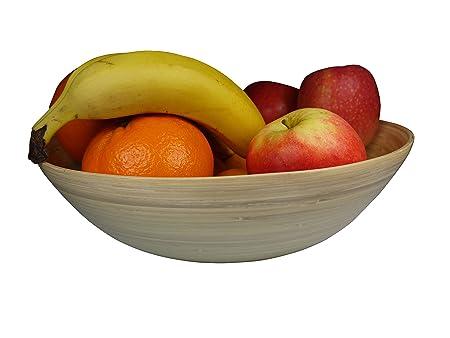 khevga large fruit bowl made of bamboo - bamboo bowl: Amazon.co.uk ...