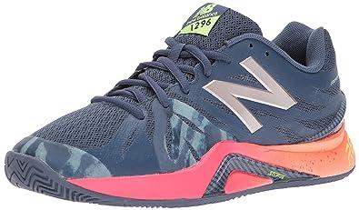 free shipping 18421 fad8f New Balance Women s 1296V2 Tennis Shoe Vintage Indigo Alpha Pink 5 ...