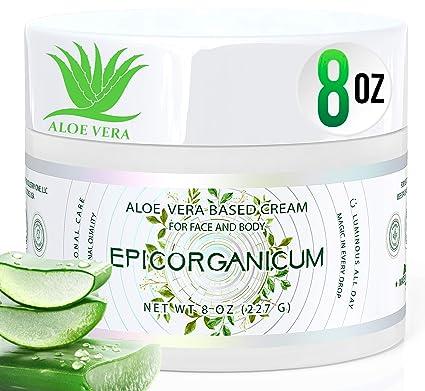 Amazon Com Organic Aloe Vera Moisturizing Cream Body And Face