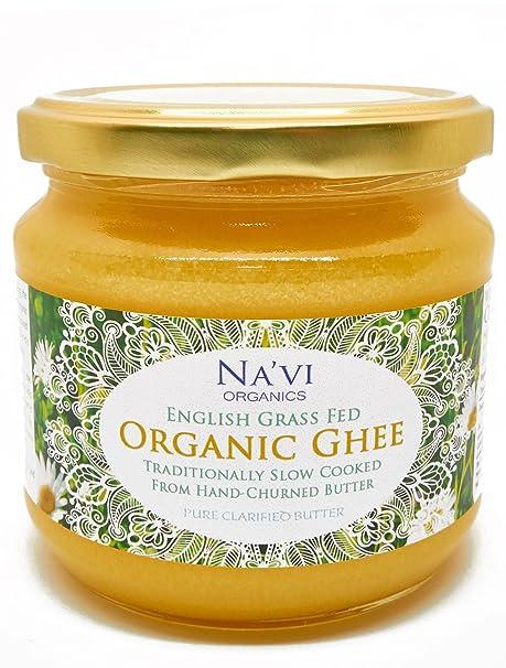 Ghee Bio Calidad Superior, Vacas Alimentadas con Pasto, Certificado Orgánico, Producto de Pasto