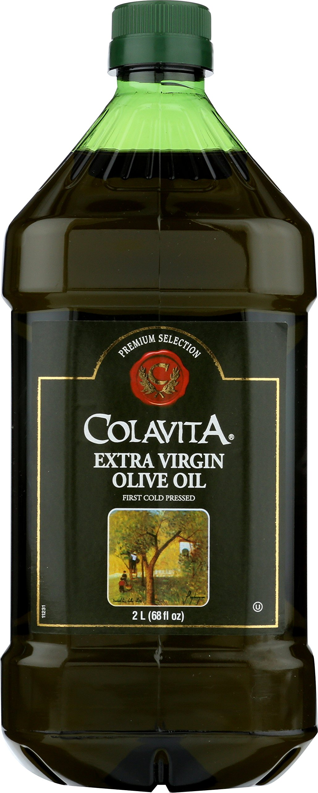 Colavita Extra Virgin Olive Oil, First Cold Pressed, (2 Liters) 68 Fl Oz (Pack of 1) by Colavita