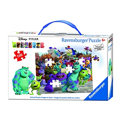 Ravensburger Disney Monsters University Picture Day Puzzle in a Suitcase Box 100 Piece Jigsaw Puzzle for Kids – Every Piece is Unique, Pieces Fit Together Perfectly: Toys & Games