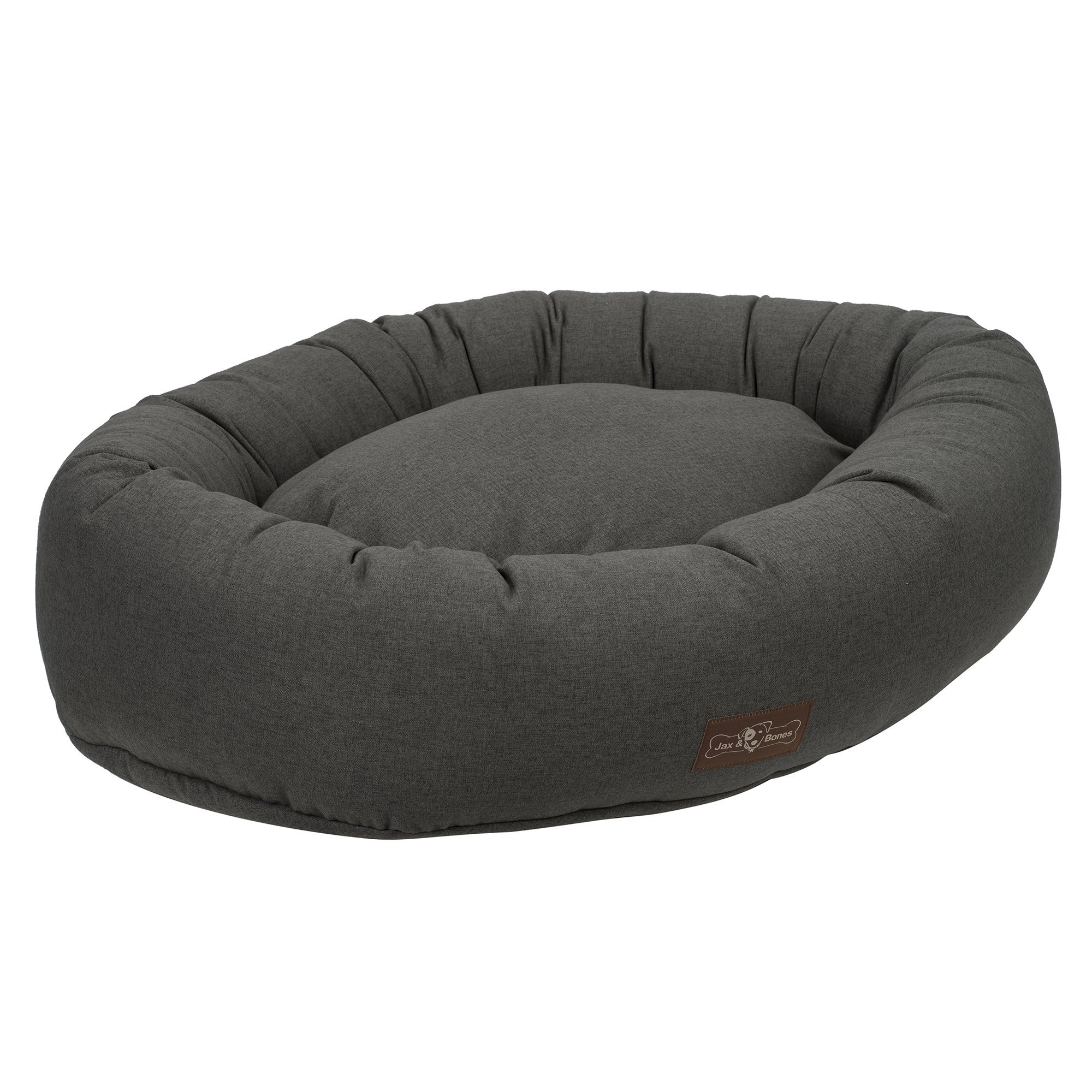 Jax and Bones Licorice Standard Wool Blend Donut Dog Bed, Large