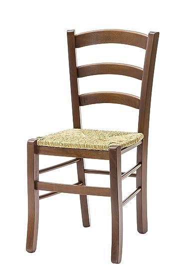 White Loft Möbel Für Alle 235 GN Set Von 2 Stühle 43x42x88 Cm Walnuss