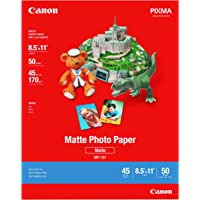 Canon 7981A004 Matte Photo Paper, 8.5 x 11 Inches, 50 Sheets