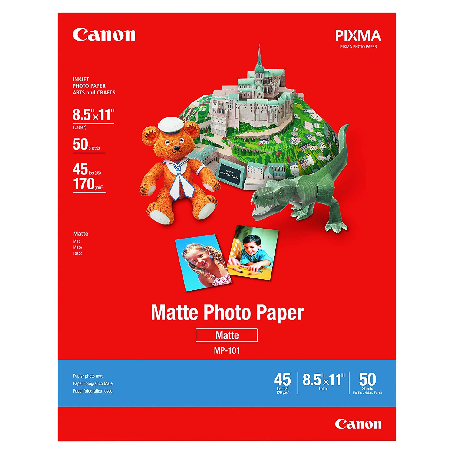 Canon MP-101 8.5-Inch x 11-Inch Matte Photo Paper (50 Sheets/Package) - 7981A004 Office Supplies