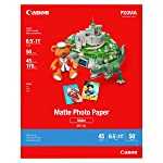 Canon MP-101 8.5-Inch x 11-Inch Matte Photo Paper (50 Sheets/Package) - 7981A004