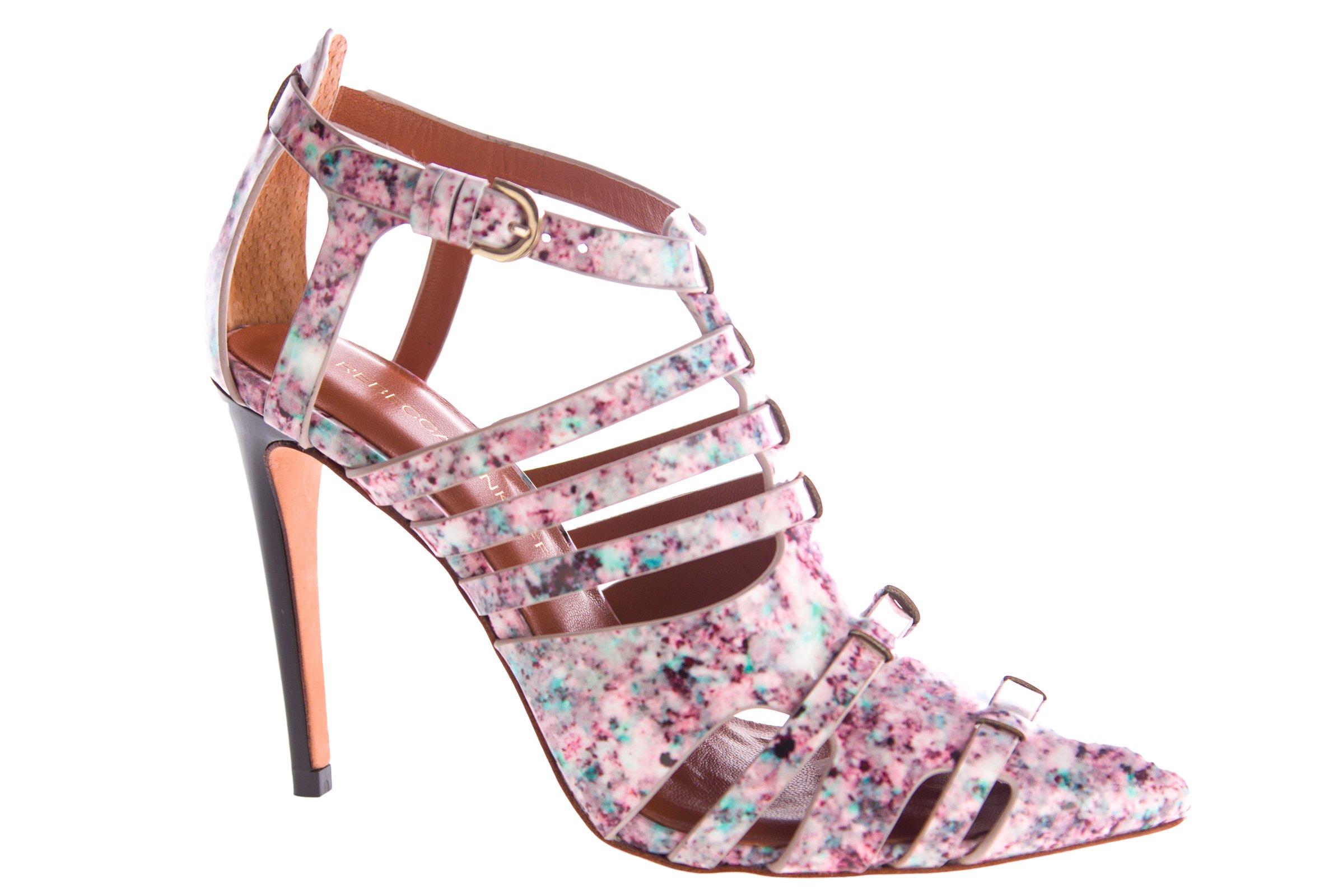 Rebecca Minkoff Women's Randi Floral Print Pumps 6.5 Pink Multi