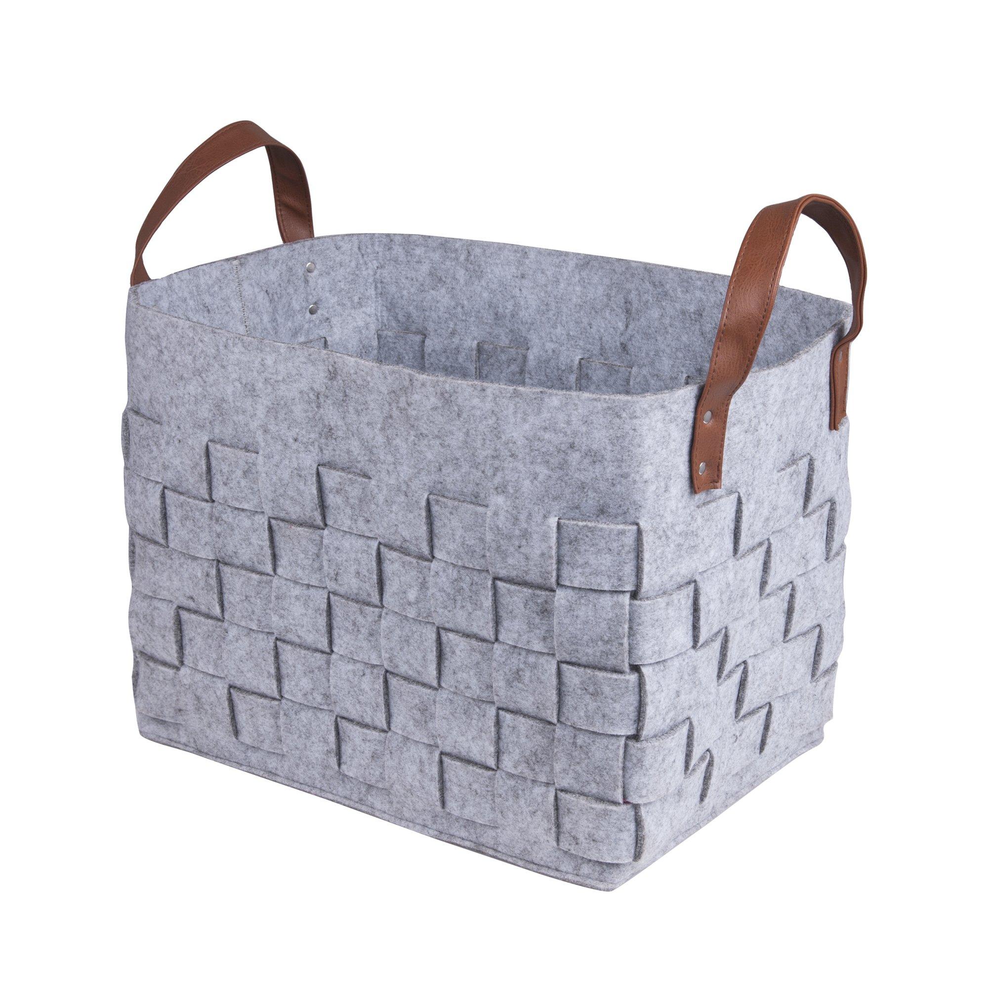 BOLDMONKEY Storage Basket,Laundry Basket, Children's Toy Basket, Dirty Clothes Basket, Brand is Durable, Send Fashion Shopping Bags (Gray)