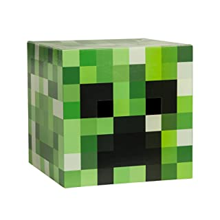 JINX Minecraft Creeper Head Costume Mask, Cardboard, 12x12x12 inches