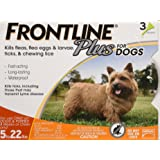 Frontline Plus Flea and Tick Control for Dogs and Puppies 8 weeks or older and up to 5 to 22lbs, 3-Doses
