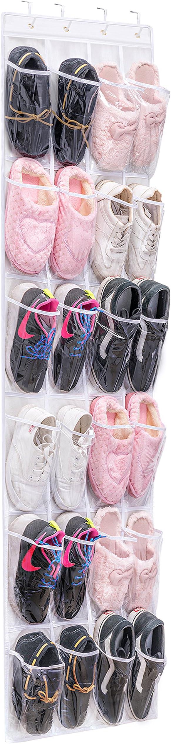 Gain d/'espace rack niveau 4//10 chaussure soutirage organisateur 12-30 Paire Chaussures stockage nouveau