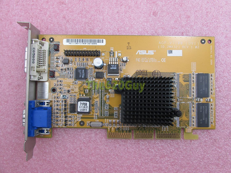 ASUS agp-v7100 NVIDIA GeForce2 MX 32 MB DDR 32 bits VGA/DVI ...