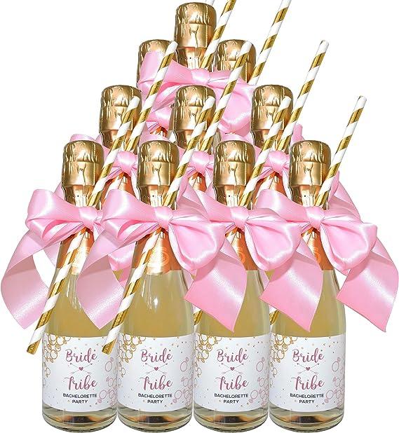 Bridal Shower Favors Custom Bachelorette Bride Tribe Mini Wine Label Bridal Gifts BCA Bridal shower Mini Wine Label