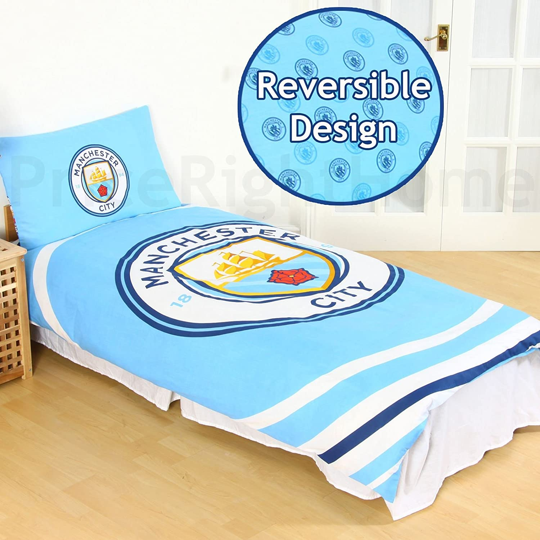Manchester City Single Duvet Set PL: Amazon.es: Hogar