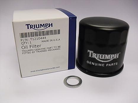 Triumph original de la motocicleta Filtro de aceite arandelas para cárter de & (t1210444/t3550605)