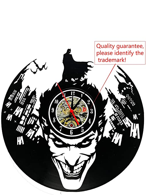 Meet Beauty Placa Reloj de Pared de Vinilo, diseño de Batman, ceativ, doméstica