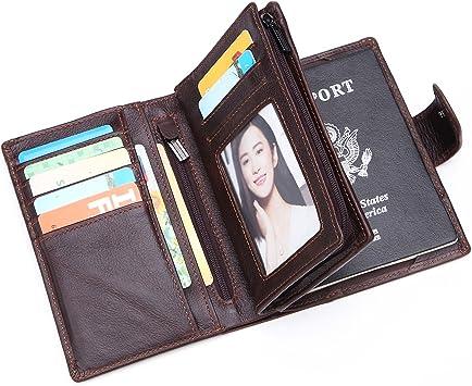 Valentine S Day Protective Premium Leather RFID Blocking Wallet Case for Passport Passport Holder Case