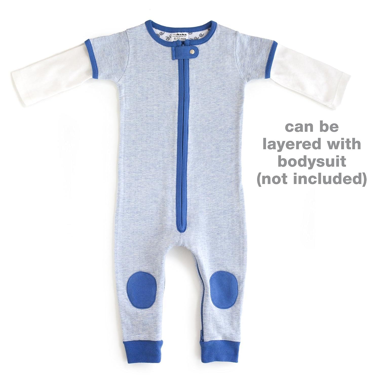 Baby Deedee Short Sleeve 1 Piece Footless Romper Pajama