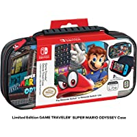 Officially Licensed Nintendo Switch Super Mario Odyssey Carrying Case – Protective Deluxe Travel Case with Adjustable…