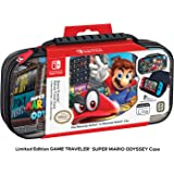 Officially Licensed Nintendo Switch Super Mario Odyssey Carrying Case – Protective Deluxe Travel Case with Adjustable Viewing