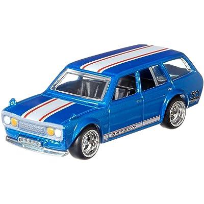 Hot Wheels 50th Anniversary Favorites 71 Datsun Blue Bird 510 Wagon: Toys & Games
