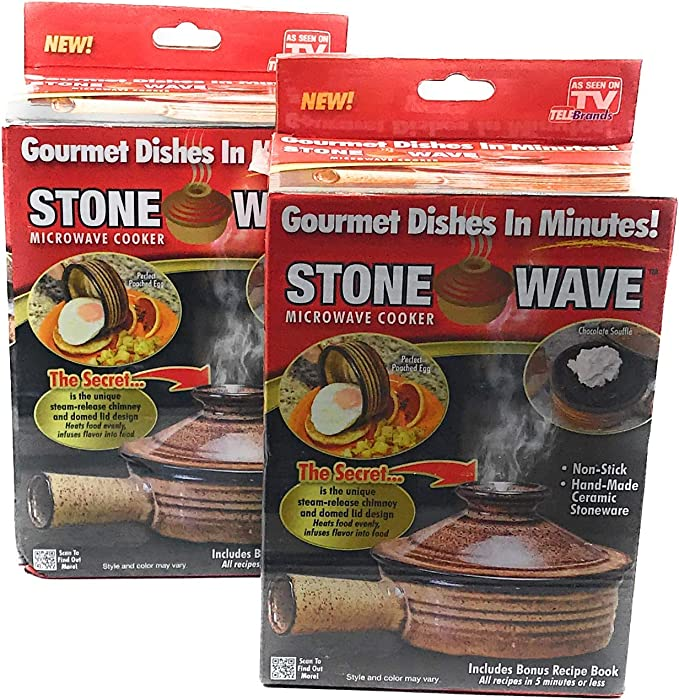 MICRO STONE WAVE MICROWAVE COOKER NON-STICK STEAM BAKEWARE COOKWARE EGG PASTA