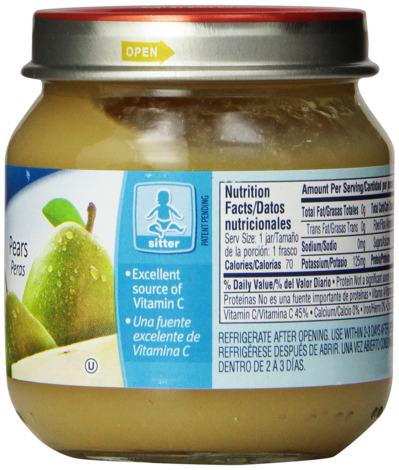 Gerber 2nd Foods Pears Puree, 4 Ounce (Pack of 12): Amazon.com: Grocery & Gourmet Food