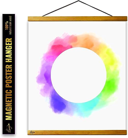 Black 3pcs Retro DIY Magnetic Wooden Poster Hanger Poster Frame Picture Frame