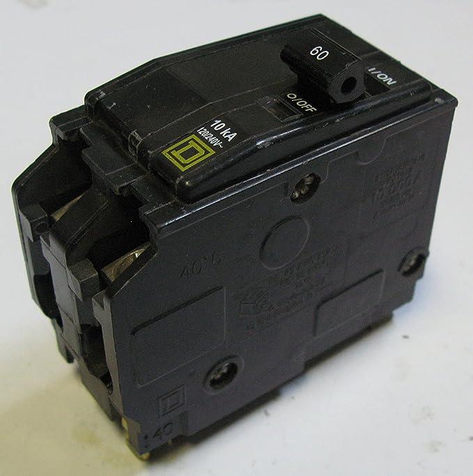 SCHNEIDER ELECTRIC Miniature Circuit Breaker 120/240-Volt 60-Amp QO260 Sw Fusible Hd 100A Stainless/Cr-Hi Recep
