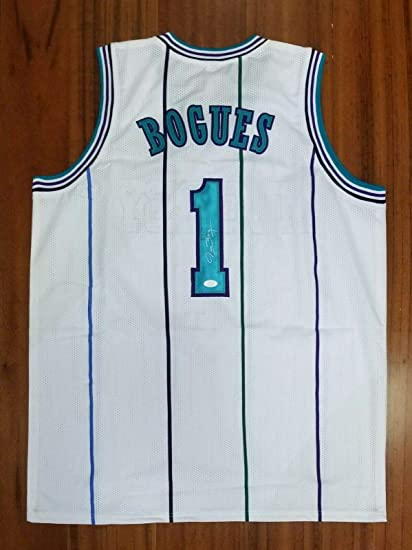new styles 15fdd c6913 Autographed Muggsy Bogues Jersey - Tyrone - JSA Certified ...