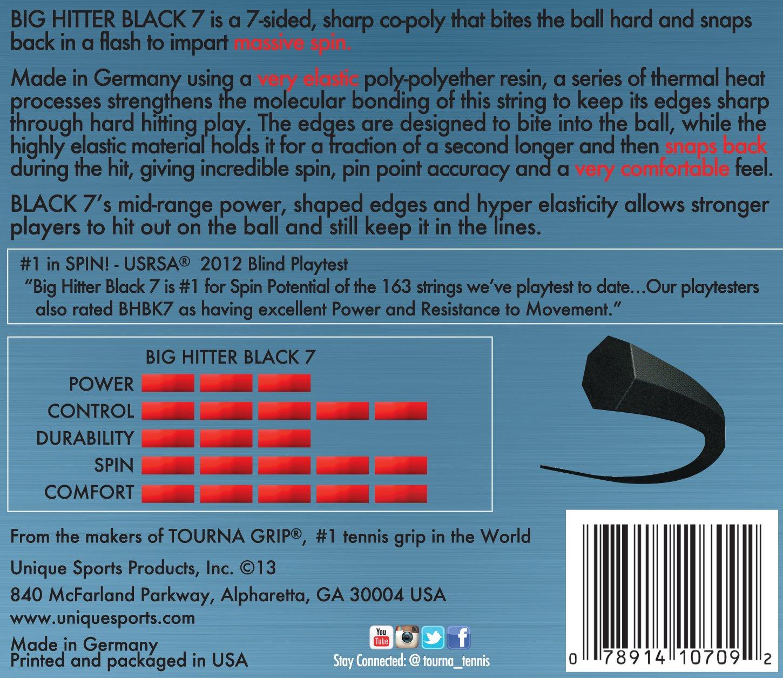 Tourna Big Hitter Black7 Ultimate Spin Polyester Tennis String