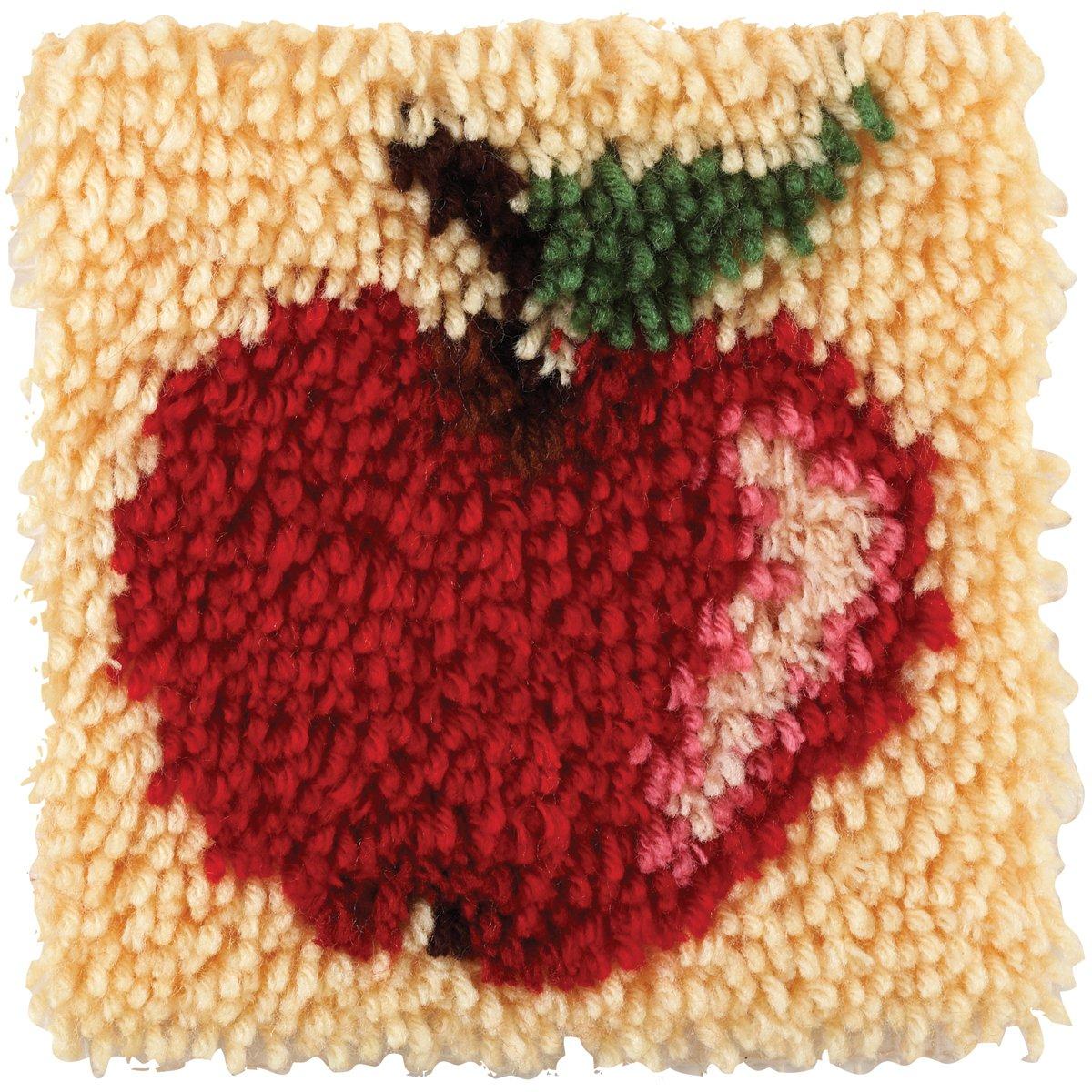 Spinrite Wonderart Latch Hook Kit, 8 by 8-Inch, Apple 426101