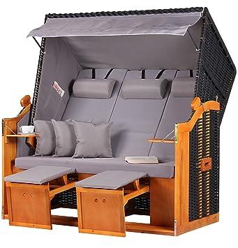 a0cb53942208 Ostsee Wicker Beach Chair CHAIR XXL fully reclining Beach Chair ...