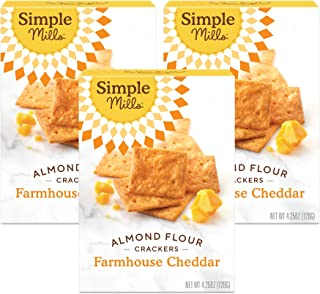 product image for Simple Mills Almond Flour Crackers, Farmhouse Cheddar, Gluten Free, Flax Seed, Sunflower Seeds, Corn Free, Good for Snacks, Made with whole foods, 3 Count (Packaging May Vary)