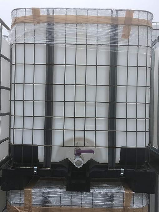 Tanque de 1000 litros IBC Contenedor de tonel de Natural de nuevo de 1B de rejilla caja de y de palé: Amazon.es: Jardín