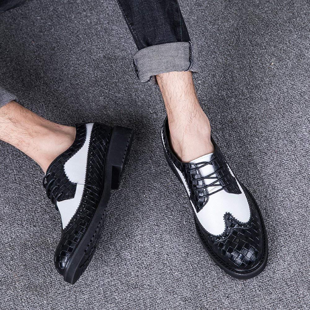 FuweiEncore Herren Schnürschuhe Business Kleid Schuhe Schuhe Hochzeit Schuhe Schuhe Mode Farbabstimmung (Farbe   1, Größe   38EU) 65a179