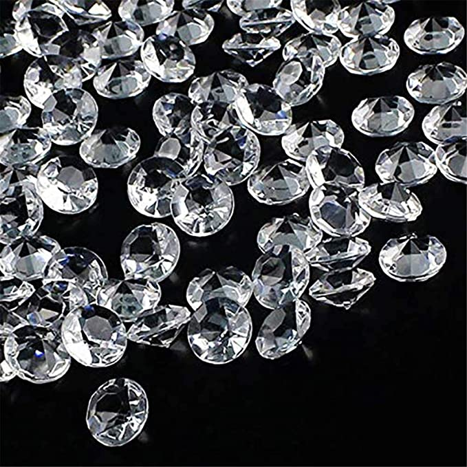 Outuxed 1000pcs 0 4inch Clear Wedding Table Scattering Crystals Acrylic Diamonds Wedding Bridal Shower Party Decorations Vase Fillers Home Kitchen Amazon Com